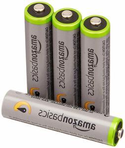 Quality 4 AA Amazon Basics Hi-Capacity Rechargeable Batterie