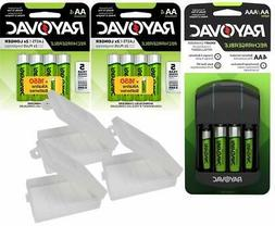 Rayovac AA and AAA NiMH Battery Charger with 12 AA  Recharge