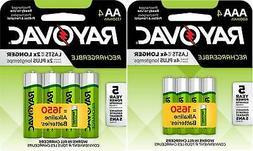 Rayovac Rechargeable 4 AA 1350mAh and 4 AAA 600mAh NiMH Batt