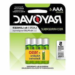 Rayovac Rechargeable 600mAh NiMH AAA Batteries 4 Pack
