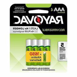 rayovac rechargeable 600mah nimh aaa batteries 4