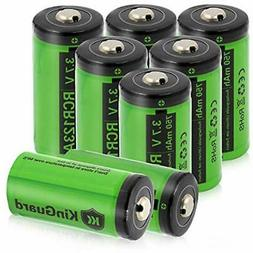 RCR123A Rechargeable Batteries 3.7V 750mAh Lithium Battery F