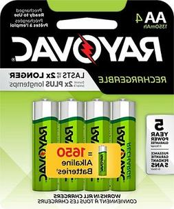 Rayovac AA Precharge 1350mAh NiMH Rechargeable Batteries 4 P
