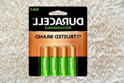 Duracell Rechargeable AA Batteries 4 Count - Free Shipping