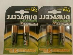 Duracell Rechargeable Batteries AA 1300 MAh 4 pack