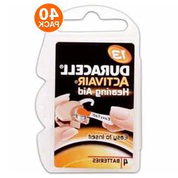 Duracell Size 13 Hearing Aid Battery, 10 x 4 Packs Closeout