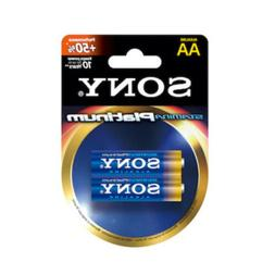 Sony Stamina Platinum AA Alkaline Batteries