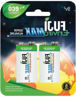 Fuji EnviroMAX Super Alkaline 9 Volt Eco Friendly Batteries