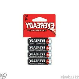 Eveready Super Heavy Duty Batteries, AA, 4-Count, Energizer