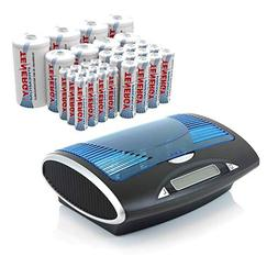 Tenergy T9688 Smart Universal LCD Battery Charger with 32 Pr