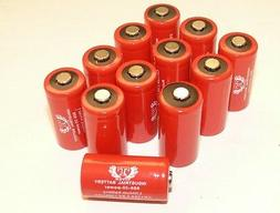 12 Tank INDUSTRIAL 3V Lithium CR123A Batteries for Camera, F