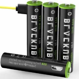 Blackube Triple AAA Lithium Rechargeable Batteries 600mAh 1.