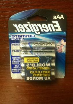 Energizer® Ultimate Lithium AA Batteries 8-Pack Exp: 12-303