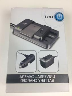 Onn Universal Camera Battery Charger DSLR Batteries New with