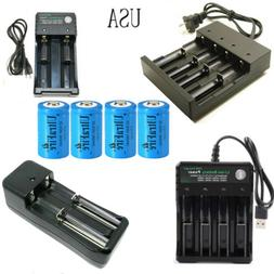 USA UltraFire 16340 Battery 1800mAh CR123A Rechargeable 3.7V