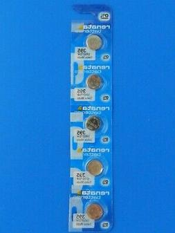 RENATA Watch Battery #395/SR927SW Swiss Made 5 Pc