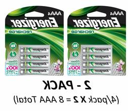 4/pack AAA Energizer Rechargeable NiMH Batteries EXP 2021 A