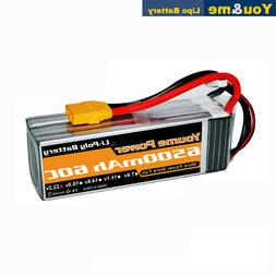 Youme 6500mAh 6S 22.2V 60C Lipo battery XT90 for RC TRUCK HE