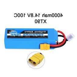 Yowoo 4S 14.8V 4000mAh Graphene Lipo Battery 100C XT90 for Q