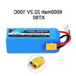 Yowoo Graphene 6S 22.2V 6000mAh 100C Lipo Battery for Airpla